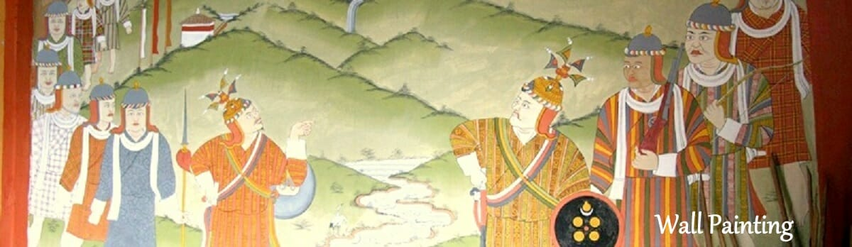 Bhutanese Temples Wall Painting.Travel to Bhutan and Enjoy Ancient Wall Paintings