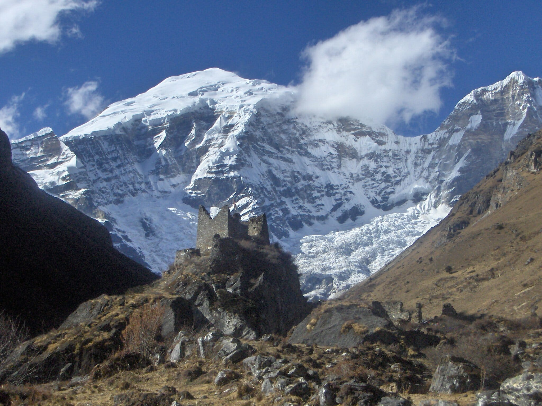 Jomolhari Mountain in Bhutan